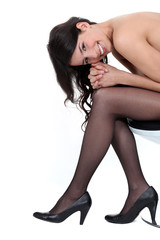 Sexy woman wearing heels
