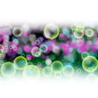 fantastic powerful bubbles background design illustration