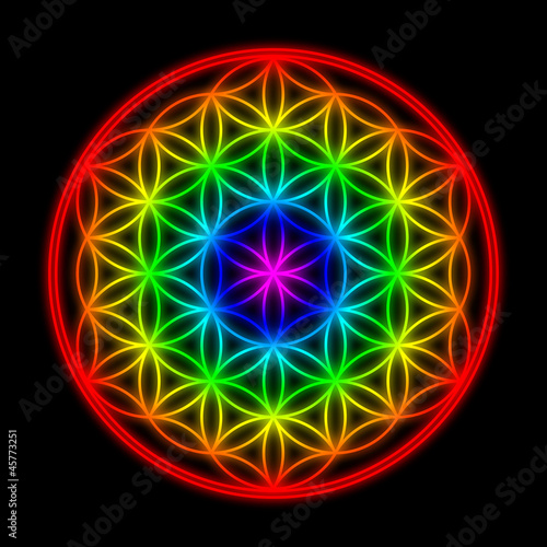 Rainbow Creation Pattern - Flower of Life