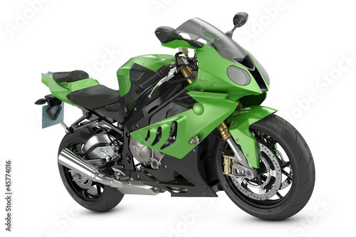 Papiers peints Motocyclette Green Sport Motorcycle