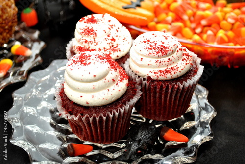 Halloween; Red Velvet Cupcakes