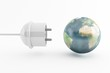 power plug and planet earth