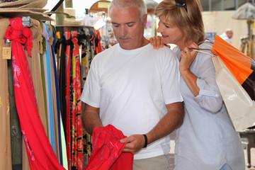 Man and woman at market