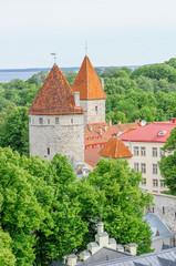 Gothic tower in Tallinn, Estonia