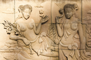 Sculptures on the wall