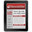 eNewsletter on Tablet Computer News Alert