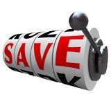Save Word Slot Machine Wheels Saving Money Discount