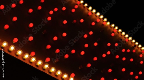 red and white diagonal marquee
