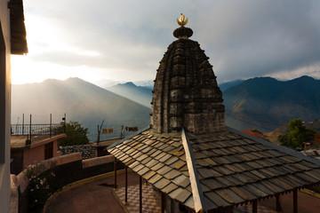 Bhimakali Temple Mountain Range Landscape H