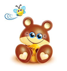 Whimsical Kawaii Cute Bear Cub