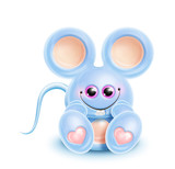 Whimsical Kawaii Cute Mouse poster
