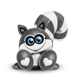 Whimsical Kawaii Cute Raccoon poster