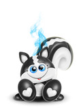 Whimsical Kawaii Cute Skunk poster