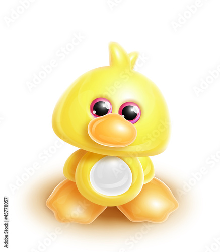 Whimsical Kawaii Cute Duck