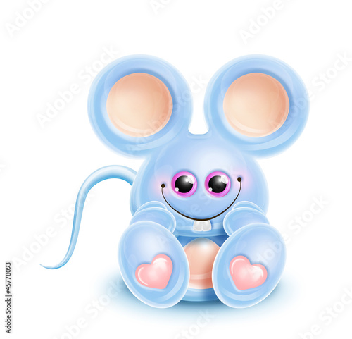 Whimsical Kawaii Cute Mouse