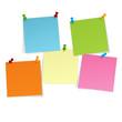 5 Notizzettel mit Pins