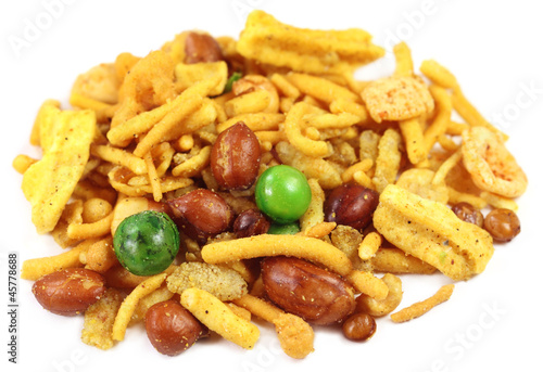 Chanachur or bombay mix