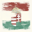 Grunge-Flagge Ungarn