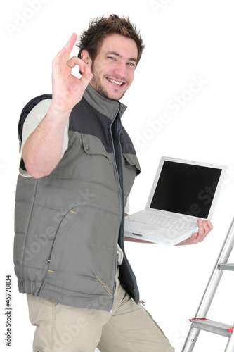 OK from a tiler with a laptop
