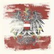 Grunge-Flagge Österreich