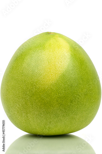 Honey pomelo on a white background