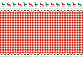 Weihnachtliche Tischdecke