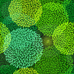 Green repetitive pattern