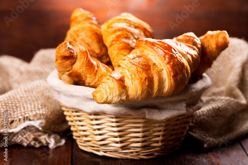 Foto op Plexiglas Brood fresh croissants