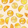 Citrus background vector seamless pattern eps8