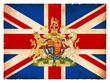 Grunge-Flagge Großbritannien mit Wappen