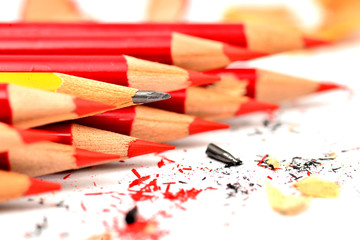 A bunch of pencil isolated on white