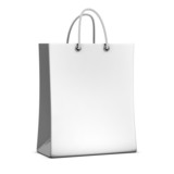 3d Blank White Shopping Bag