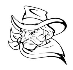 Cowboy Mascot Vector Character