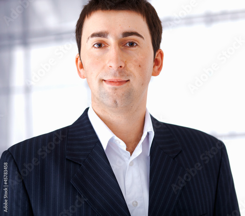 Close up of a Young Businessman.