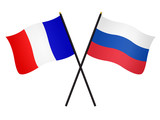 Drapeaux de l'alliance France Russie