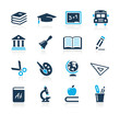 Education Icons  // Azure Series