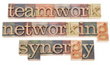 teamwork, networking and synergy