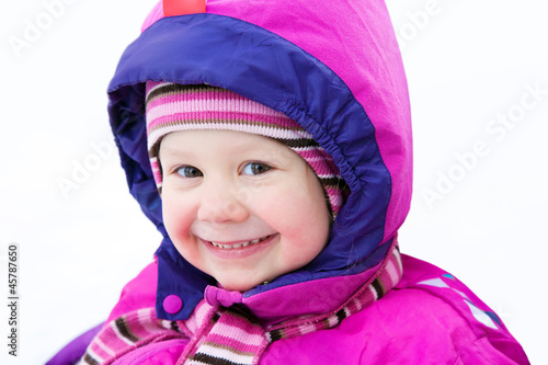 adorable girl inwinter
