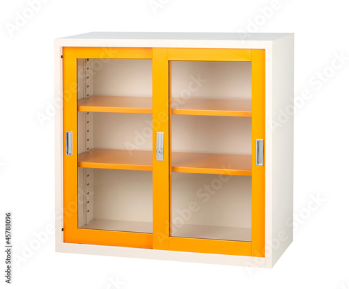 Beautiful closet in orange color isolates