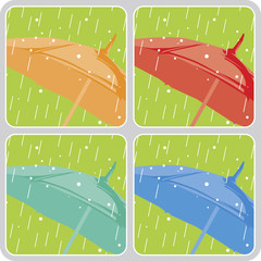 Vector umbrellas set