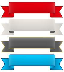 Banderole, Banner, Design Element, Banderolen, Sammlung, Set 2