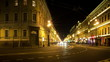 Traffic on Nevsky Prospect night