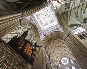 A View of the York Minster Choir Screen Ceiling