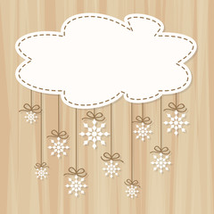 Christmas Cloud with Snowflakes - Place your text