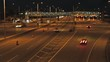 Time lapse interstate tollway at night
