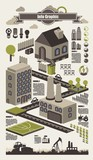 isometric info graphics, ecology vector elements,set 2 poster