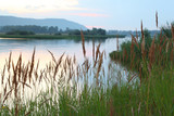 Fototapety Beautiful river in evening