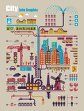 Fototapety city info graphic, industry and ecology vector elements