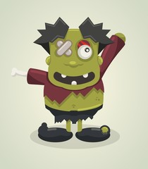 funny vector zombie character