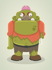 zombie character, funny vector element